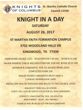 KNIGHT IN A DAY FLYER